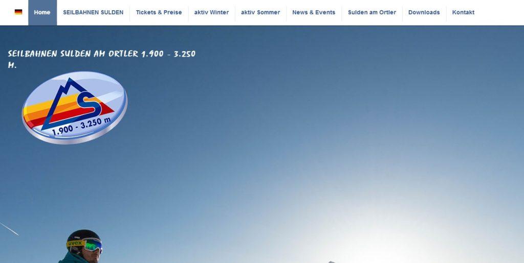 Seilbahnen Sulden am Ortler 1.900 - 3.250 m